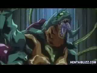 Przyłapani hentai wydymane wszystko hole przez tentacles