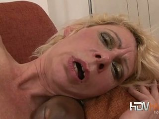 Blonde mature nailed in the ass by big black cock