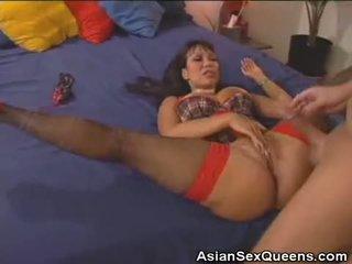 Horny Asian Gets Her Pleasure Door Fucked