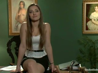 Superb dani daniels has constrained 向上 和 banged onto 一 表