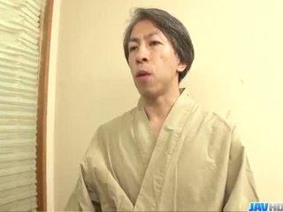Harsh threesome with naughty Yayoi Yanagida