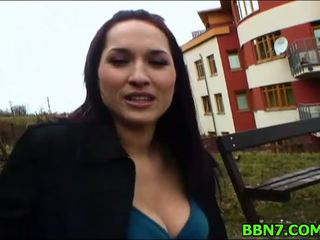 outdoor sex, blowjob, babe