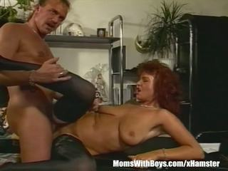 Brunette Office MILF in Sexy Stockings Fucked: Free Porn 64