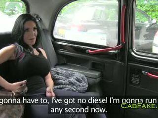 Огромен цици dancer прецака в taxi