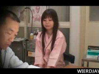 Japanese Sweetie Getting Her Sexy Boobs Checked At The Docs