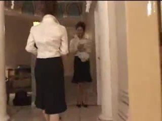 3 bianco ragazze in giapponese massaggio parlor