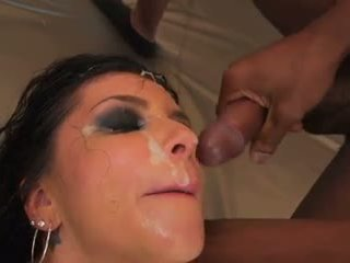 Romi Rain gets her face covered in sweet BBC cum