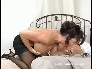 Dark haired momma deauxma fits a thick jago in her mouth until she chokes