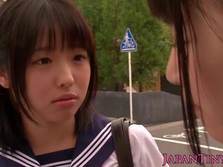 Petite Japanese Schoolgirls Fuck in Bathroom: Free Porn 7a