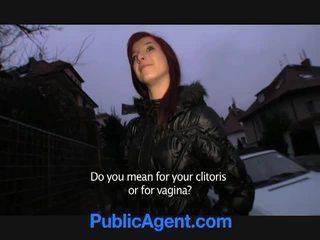 Tjekkisk redhead goes hjem med den offentlig agent
