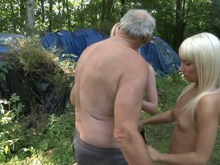 Ambushed by two bad girls, very sexy blowjob