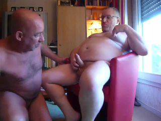 Older Man In The Armchair Gets Howdys Hard Wang Sucked