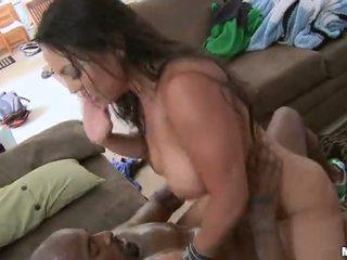 black cock, horny, busty