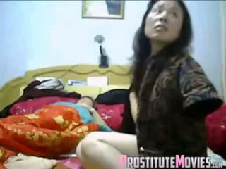 Asian Couple Hot Threesome With Maid