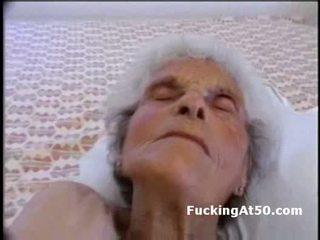 gammel, bestemor, blowjob