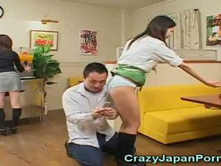 Louca porno com japonesa waitresses!