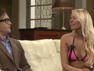 Nerd gets fucked by college girl