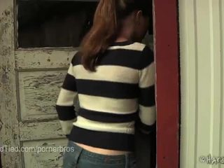 you brunette scene, torture video, hq painful