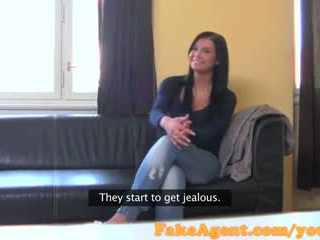 Fakeagent brunette waitress will do anything to become a fashion model