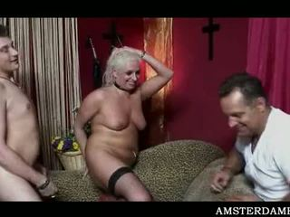 Amsterdam Bitch Filling Her Starving Pussy With Man Meat
