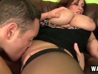 Incredibly didelis krūtys apie the seksualu puma kūrva eva notty