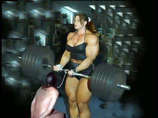 Female kulturystyka fbb bodybuilder grubaska kobieca dominacja