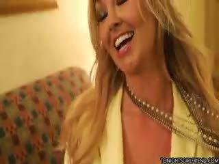 qualität große brüste, nylon, blondine