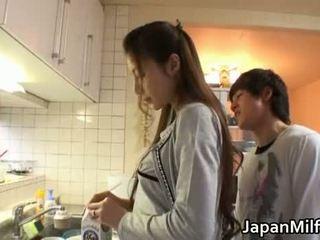 japanese, dapur, milf