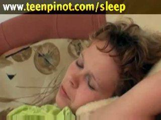 Sleeping babe fucked by senior