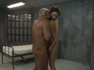 Young Girl is Fucked by two Old Pervs in the Cell