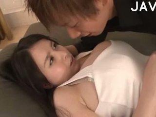 si rambut cokelat, japanese, big boobs