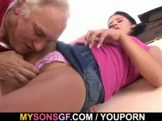 Horny Father Playfully Seduces Son S Girlfriend Onto Sex