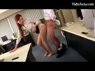 Hot Girl On High Heels Giving Blowjob In The Office