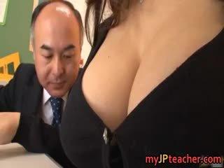 japonais, gros seins, pipe