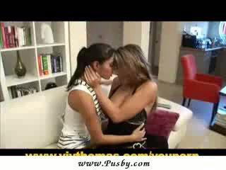lesbian, pengasuh, stoking