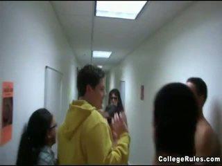 college, hardcore sex, group sex
