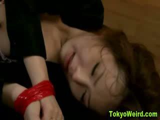 Japanese girl reluctantly fucked hard
