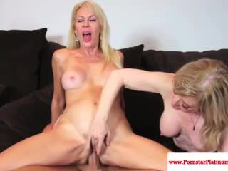 Erica Lauren and Nina Hartley share co...