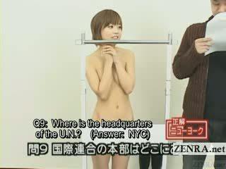 Subtitled japanisch quiz zeigen mit nudist japan student