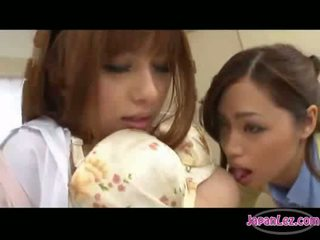 Asian girl getting her nipples sucked pussy licked and finge