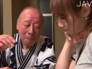 japonais, bébé, vieux + jeune