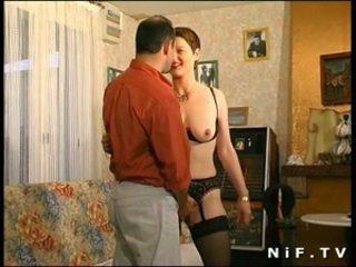 毛茸茸 法國人 媽媽我喜歡操 gets 她的 屁股 性交
