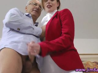 Euro equestrian hoe rides old guy
