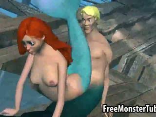 3d pak mermaid vogëlushe ariel gets fucked i vështirë