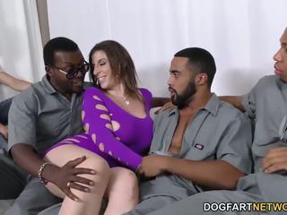 Sara jay gets ganbanged przez czarne dudes