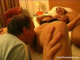 Dutch Threesome In Hotel Room