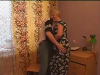 Mature Teacher Help her Student with s...