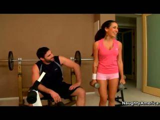 Amia miley banged in de gym