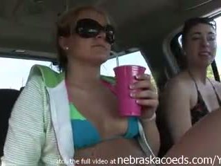 Road head and strippers being naked while driving around florida