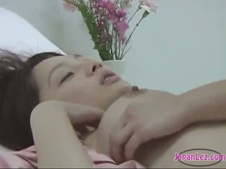 Patient Kissing Getting Her Pussy Fingered By The Nurse On The Bed In The Hospital